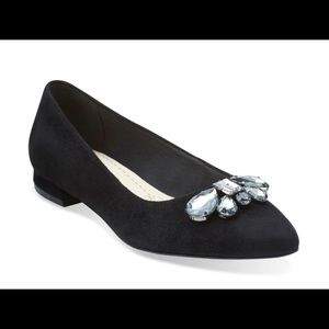 Clark's flat shoes ballerina profile. Suede. New.